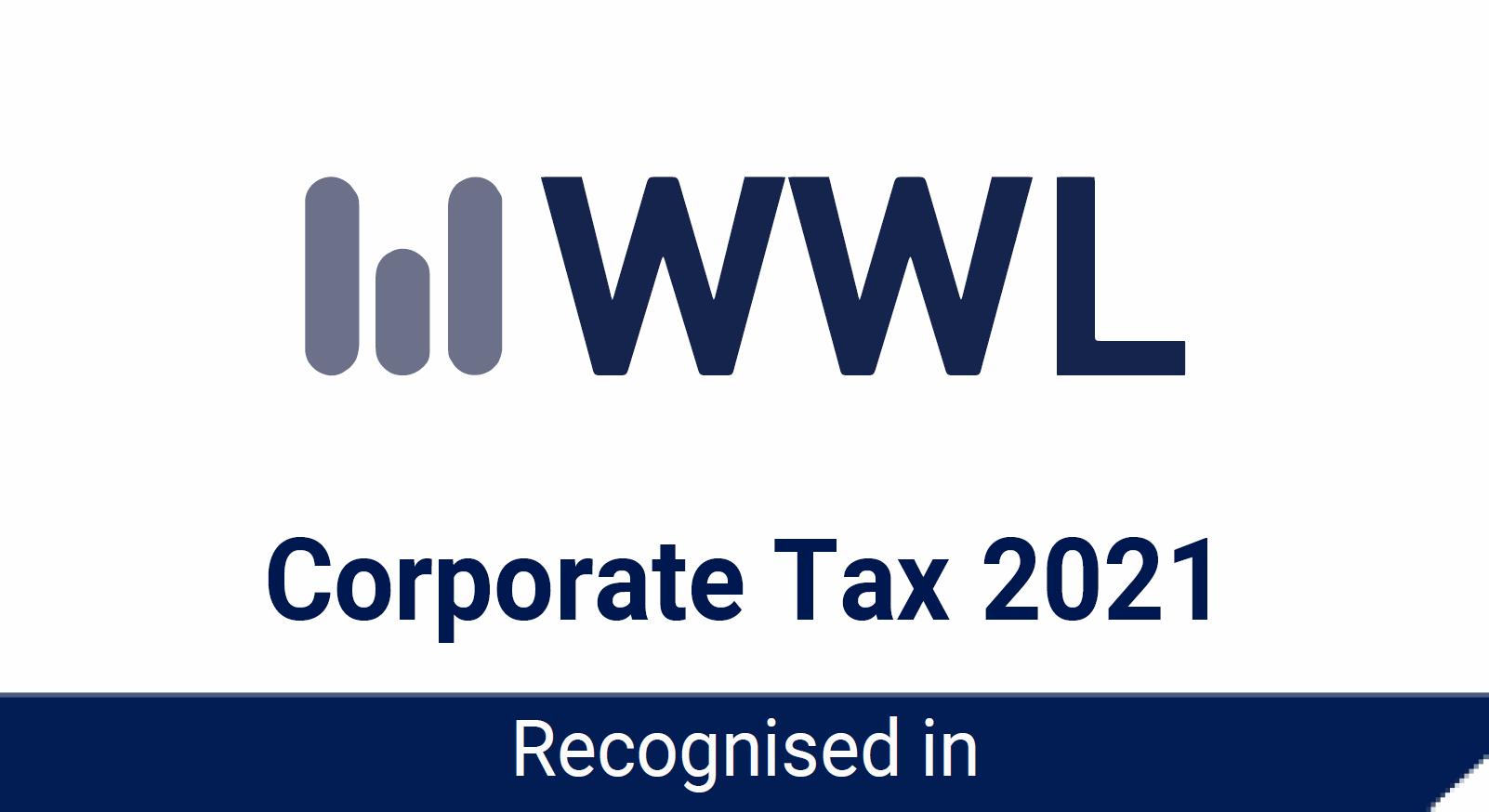 WWL Corporate Tax 2021 Rosette - Awards