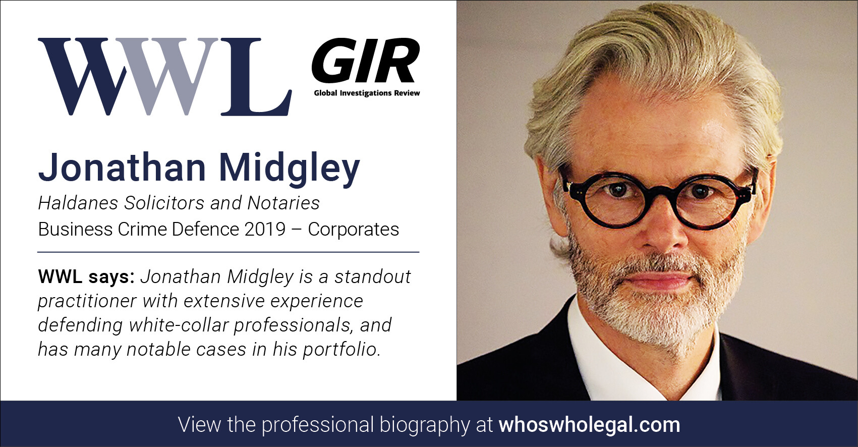 Jonathan Midgley WWL 2019 1 - Haldanes recognised in Who's Who Legal Business Crime Defence 2019