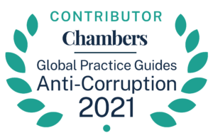 "Chambers GPG 2021 Contributor Anti Corruption Badge 01 002 300x194 - Andrew Powner and Paul Wang co-authored the Hong Kong Chapter to the ""Anti-Corruption 2021"" at Chambers & Partners"