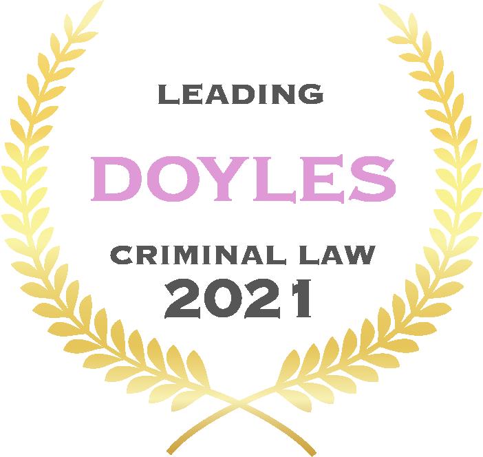 Doyles 2021 Criminal Law - Awards